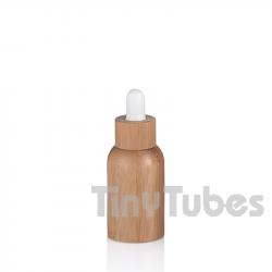 Bouteille en verre de 15ml avec doublure en bambou