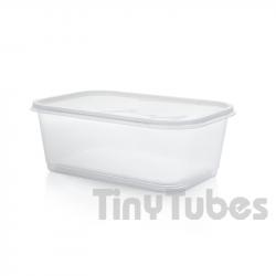 Boîte rectangulaire de 1L avec couvercle